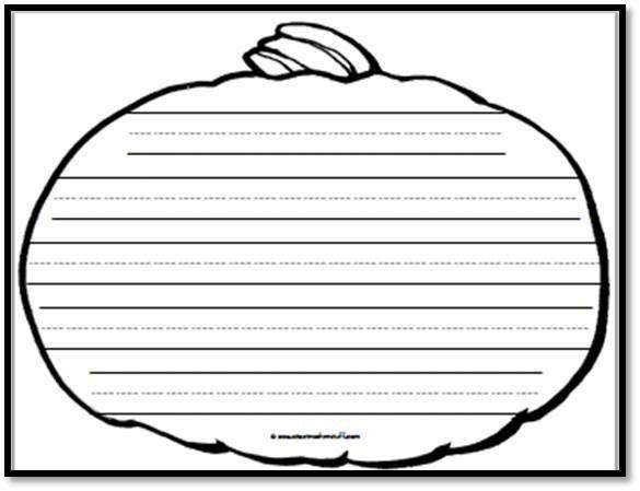 Pumpkin Writing Paper – 5 Handwriting Lines | A to Z Teacher Stuff ...