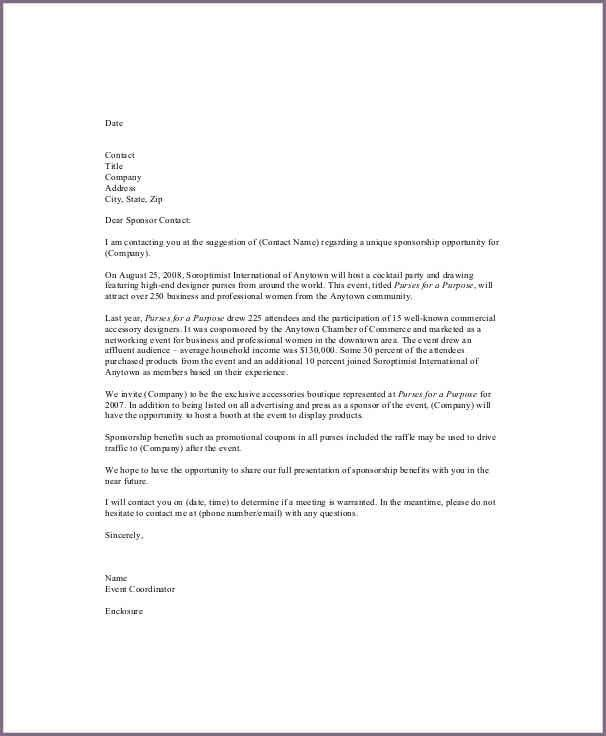 Event Sponsorship Letter Example | Jobs.billybullock.us