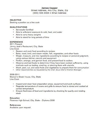 cook resume sample berathen com. cover letter sample yours ...