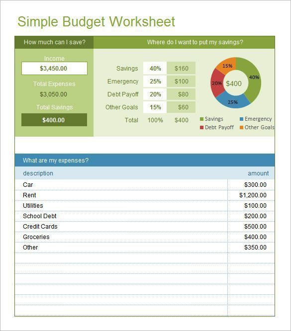 Best 25+ Simple budget template ideas only on Pinterest | Budget ...