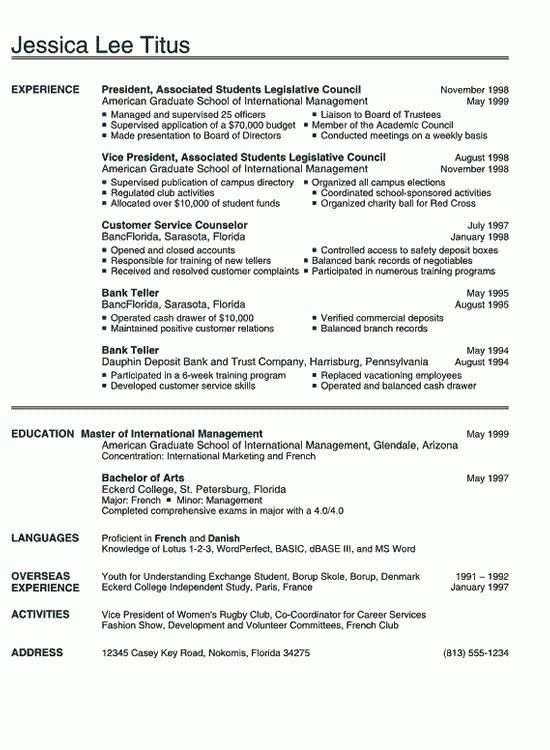 Best Resume Examples. Sample Resume, Best Resume Sample With ...