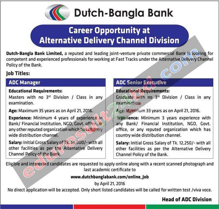Dutch-Bangla Bank Job Circular 2016 | Job Circular | Pinterest ...