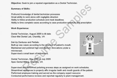 sample resume dental lab technician sample resume cad cam dental ...