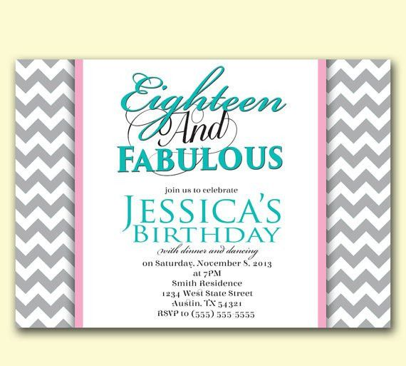 18Th Birthday Invitation Wording | futureclim.info
