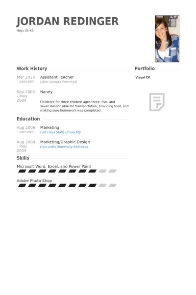 Assistant Teacher Resume samples - VisualCV resume samples database