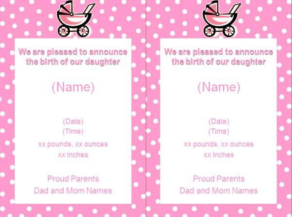 Birth Announcements Australia | Birth announcements templates