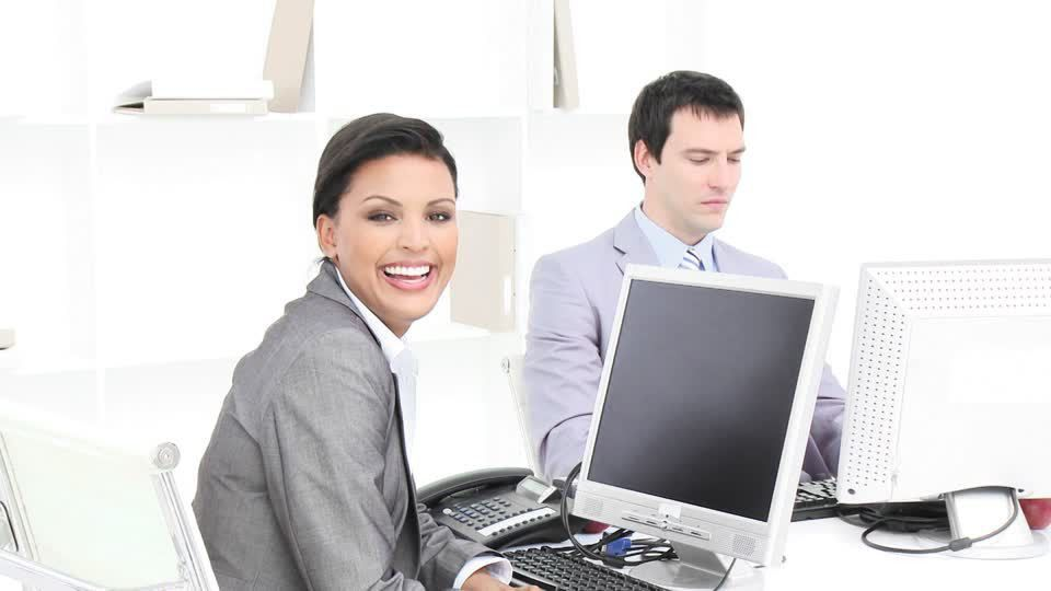 Colleague / Discussing / Office Work | HD Stock Video 394-131-544 ...