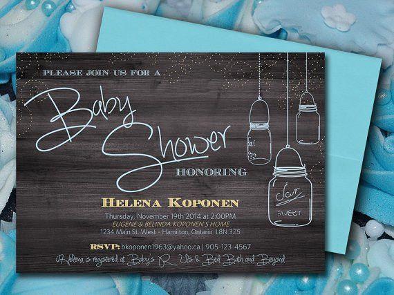 Baby Shower Invitation Template Mason Jar Baby Shower