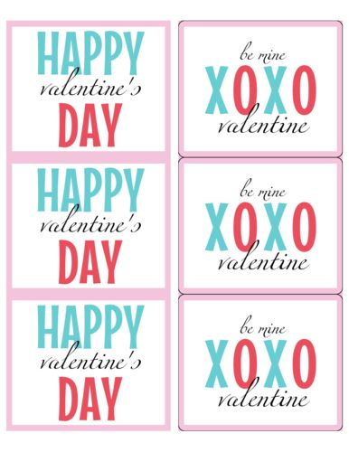 Valentine's Day Label Templates - Download Valentine's Day Label ...