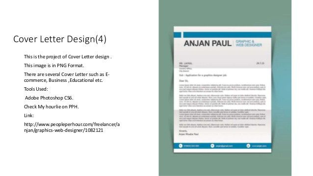 Cover letter design presentation