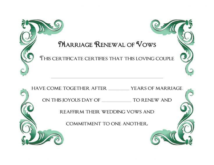 Wedding Certificate Template. Sample Marriage Certificate Marriage ...