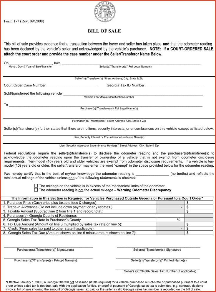 BOAT BILL OF SALE GA | Proposalsheet.com
