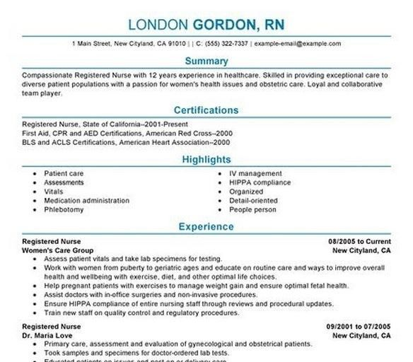 Registered Nurse Resume Template | health-symptoms-and-cure.com