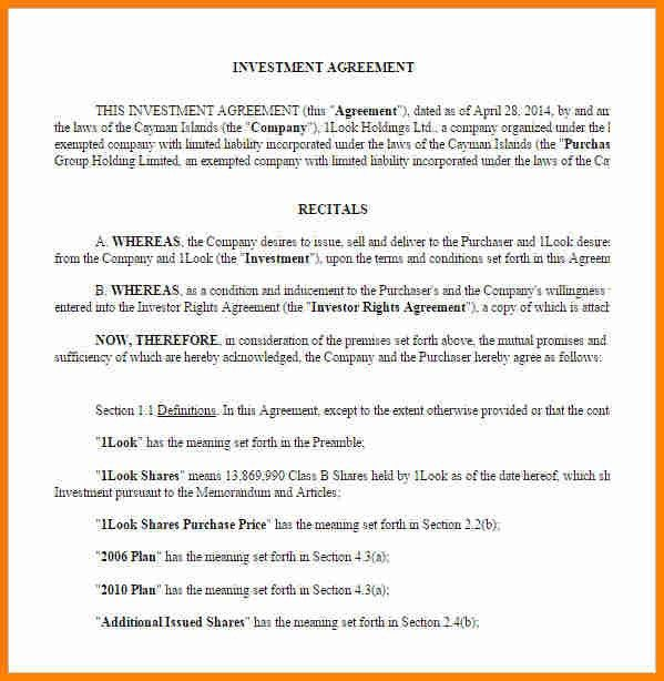 7+ investment contract | budget template