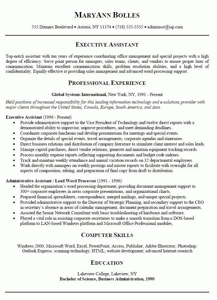 Administrative Assistant Objective Statement Examples | Template ...