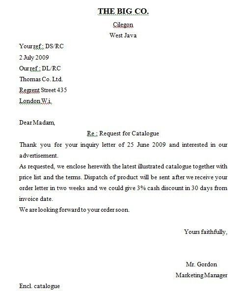 Example Of Inquiry Letter For Business | The Best Letter Sample