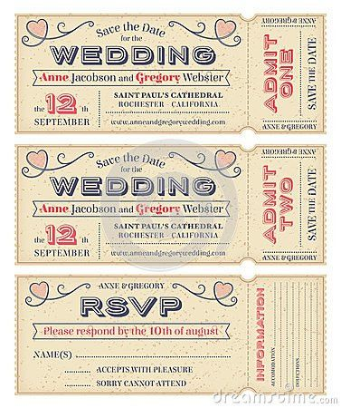 Vector Wedding Invite Tickets | Invitation! | Pinterest | Wedding ...