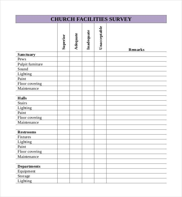 10+ Church Survey Templates – Free Sample, Example, Format ...