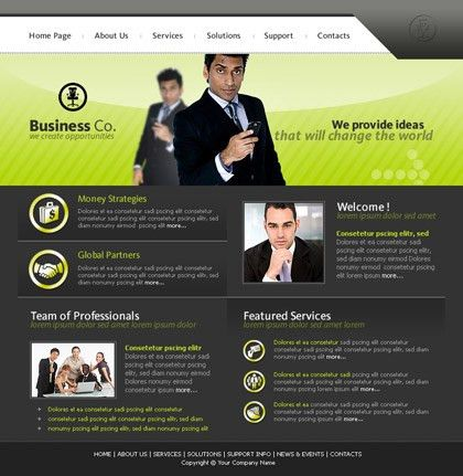 Free website template 450 about Busines, company, profesonal, team ...