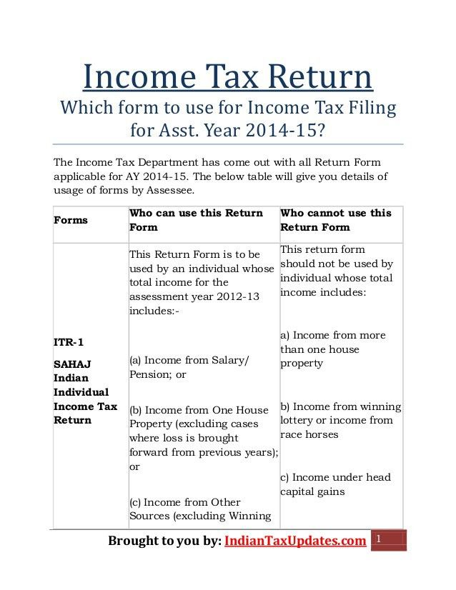 Superior Income Tax Return Assessment Year 2014 15