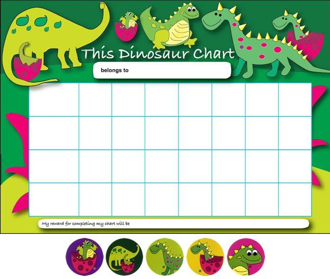 Printable Dinosaur Behavior Charts | ... viewing: Home > Reward ...