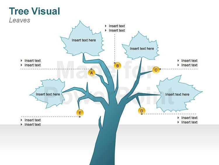 Graphic Tree Diagrams - Editable PPT Slides