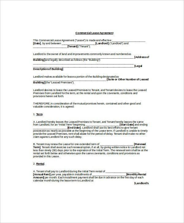Private Enterprise Lease Template- 7+ Free Word, PDF Documents ...