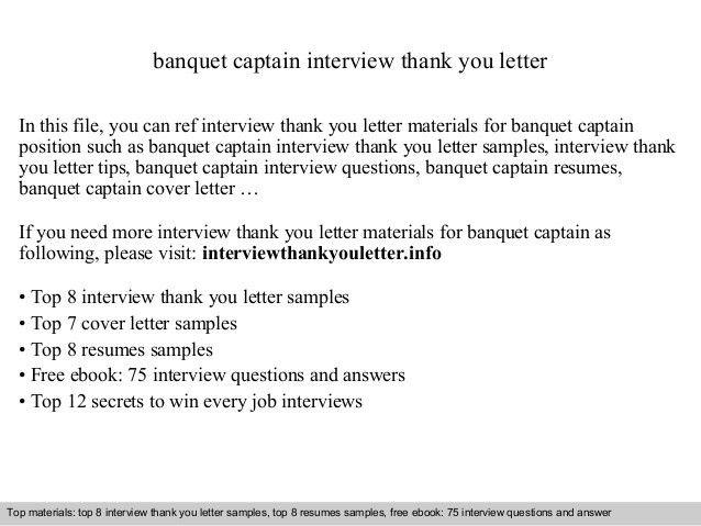 Banquet Captain Skills Resume - Ecordura.com