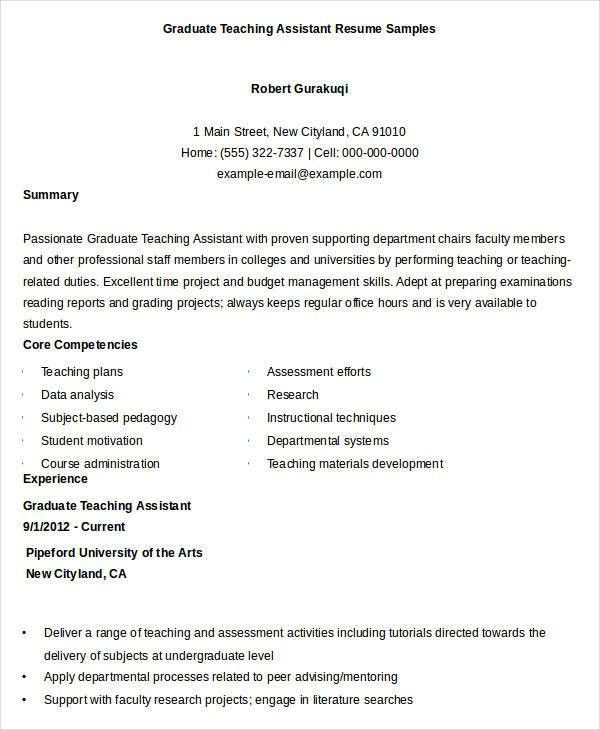 Free Teacher Resume - 40+ Free Word, PDF Documents Download | Free ...