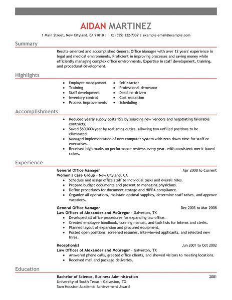 Examples Of General Resumes Effective Resume Examples Examples