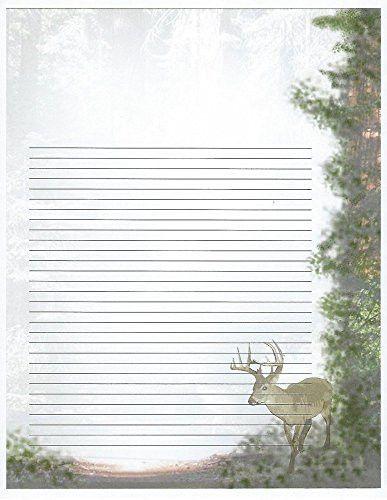 Kids Camp Deer Lined Stationery Paper 26 Sheets FPS https://www ...