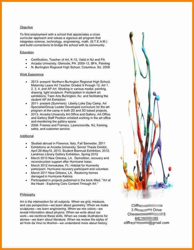 sample art teacher resume teacher resume sample page 1 art