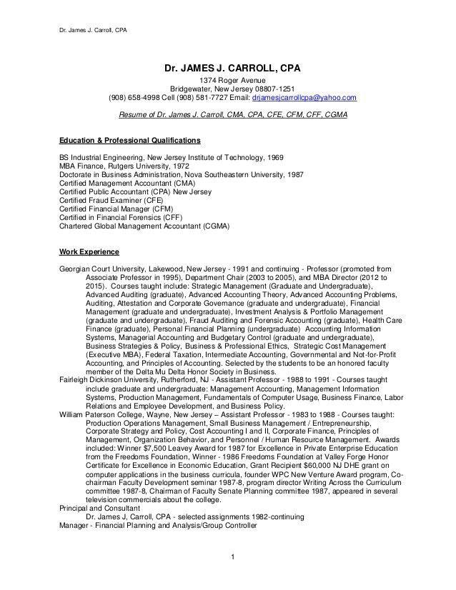 Carroll Resume - May 2016