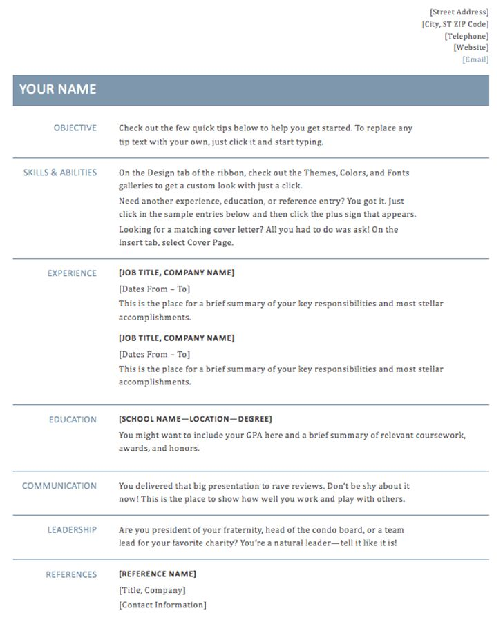Strikingly Idea Resume Template Docx 5 The Basic Resume Template ...