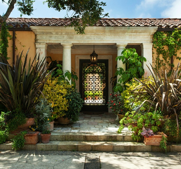 Spanish mediterranean homes found in tucson love this color scheme and the plants garden - Mediterranean garden plants colors and scents ...