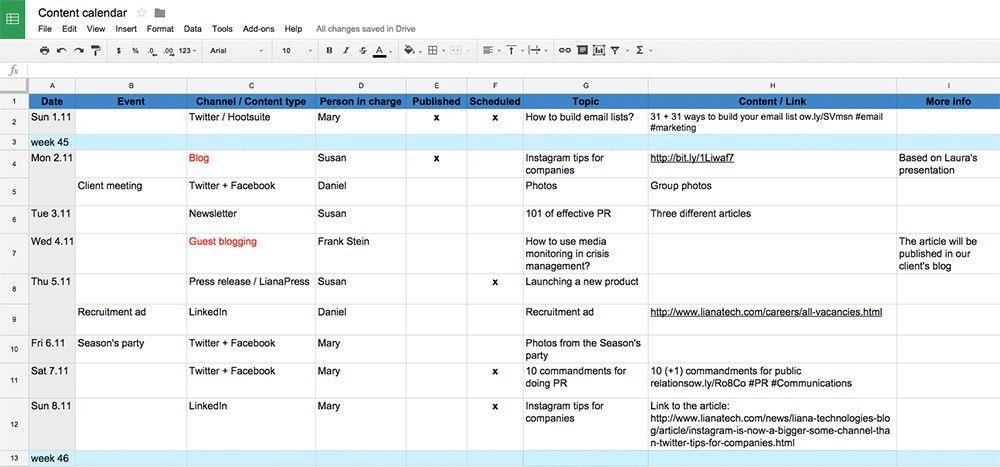 10 tips for creating a content calendar - Liana Technologies
