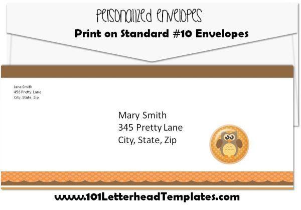 Free Printed Envelopes - 53 Designs