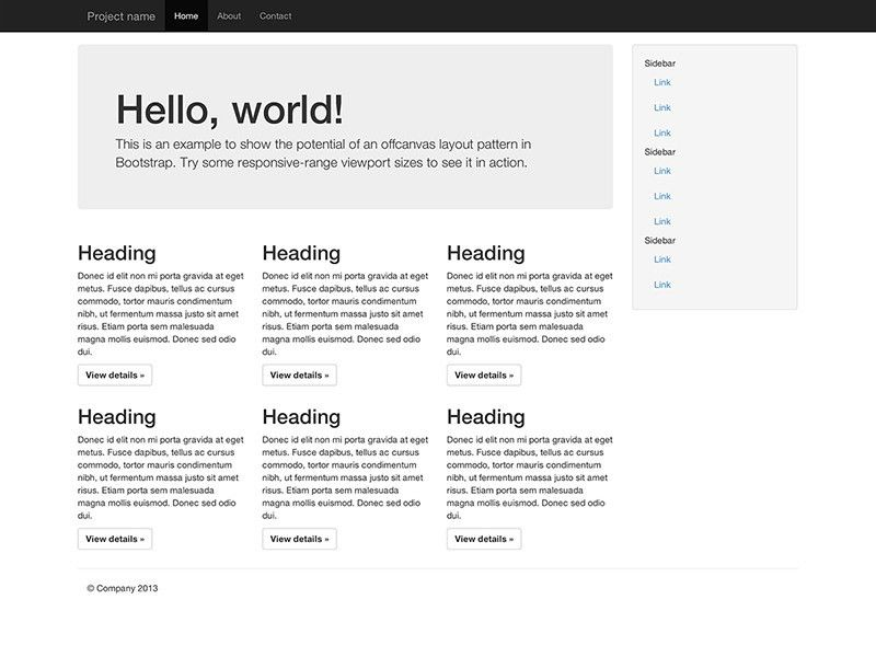 Getting started · Bootstrap