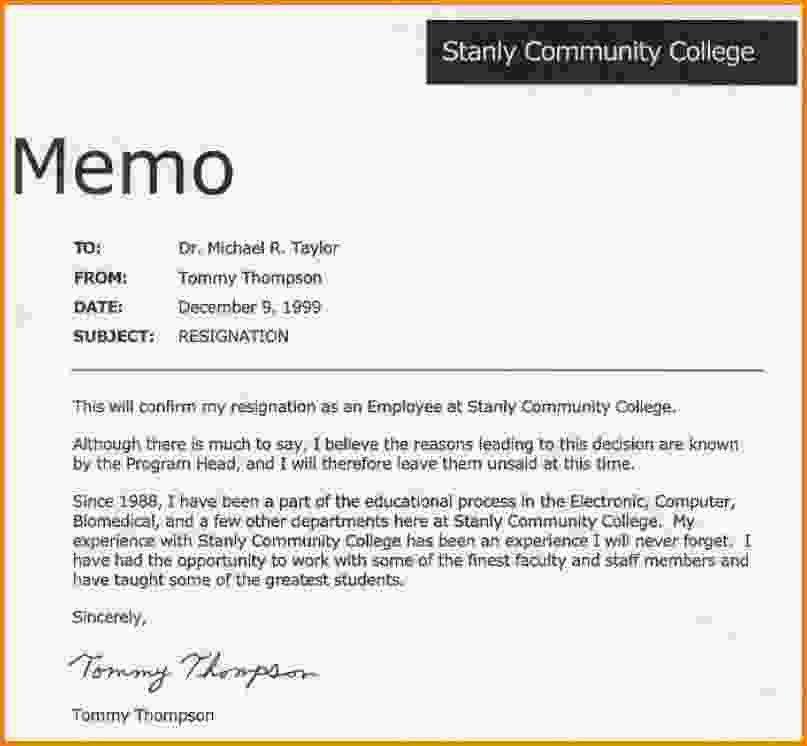Resignation Draft Letter