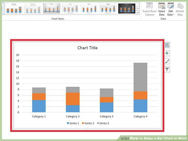 How to Make a Bar Chart in Word (with Pictures) - wikiHow