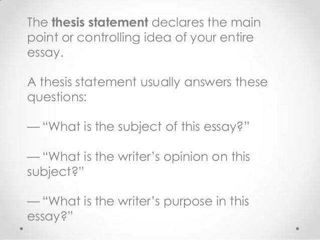 Writing for History: The Effective Thesis Statement