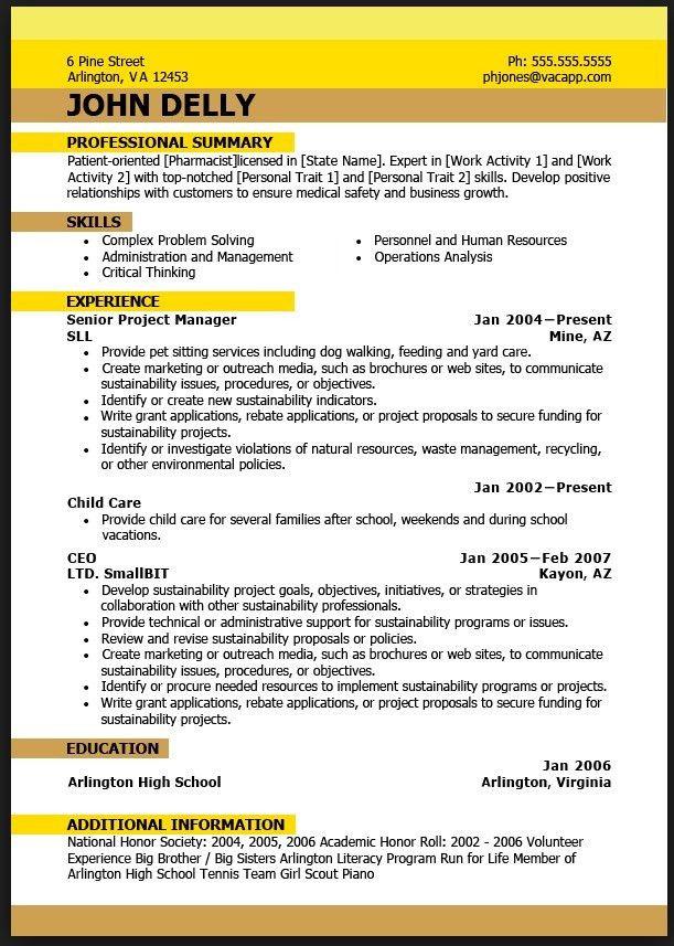 Perfect Resume Example | Free Resume Templates