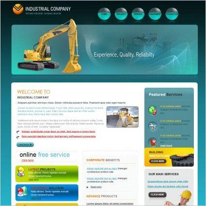 Construction Company Template Free website templates in css, html ...