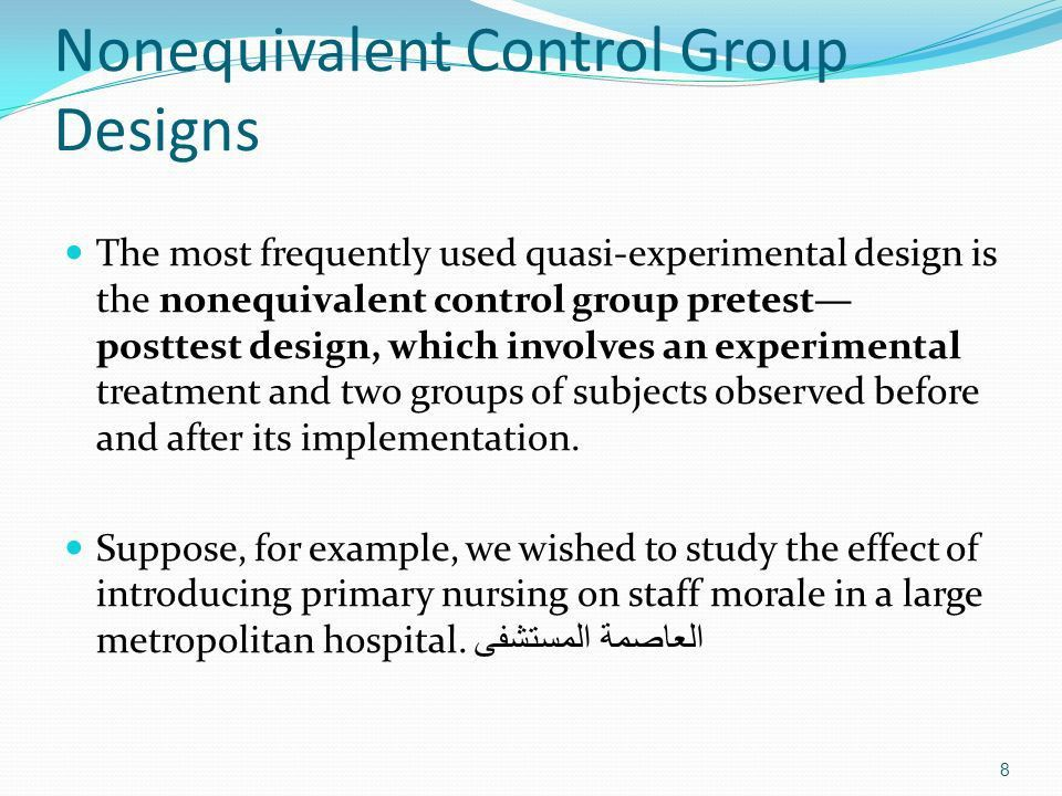QUASI-EXPERIMENTS Prepared by : Mohammed Salahat - ppt download