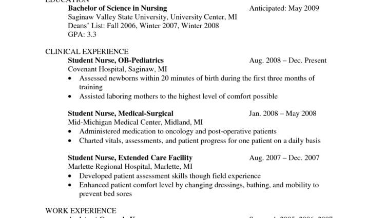 examples of nurse resume graduate nurse resume example nursing ...