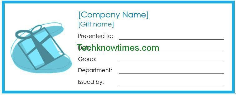 Employee Gift Certificate Template in Microsoft Word | Microsoft ...