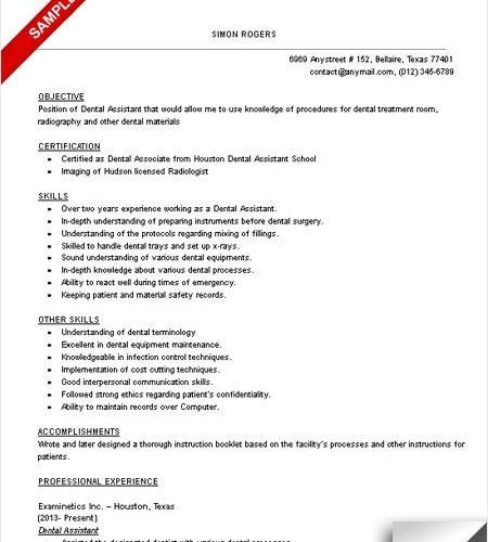 10+ Dental Assistant Resume Templates - Free PDF, Samples