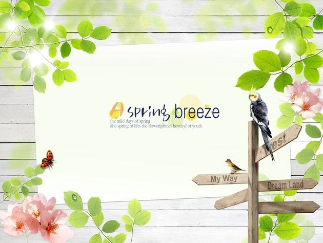 Spring theme design psd material – Over millions vectors, stock ...