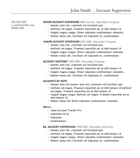 Free Resume Templates For Download. Free Resume Templates To ...