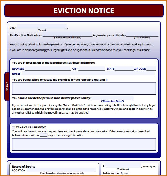 4+ free printable eviction notice   teknoswitch